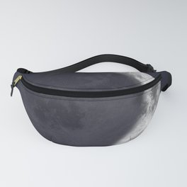 Waxing Crescent Moon on Navy Fanny Pack