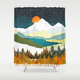 Winters Night Shower Curtain