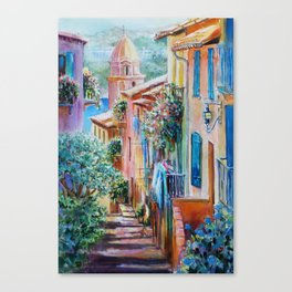 Colors of Collioure, France Canvas Print