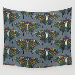 swallowtail butterfly indigo Wall Tapestry