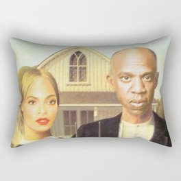Bey and Jay Survey their Land Rectangular Pillow