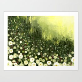 Bliss flower abstract Art Print