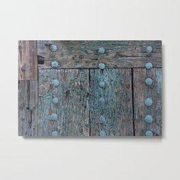 Door in Fortezza South-Tirol Italy Metal Print