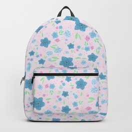 Forget Me Nots - Pink Backpack