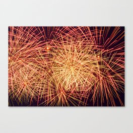 Art of the Fireworks Canvas Print
