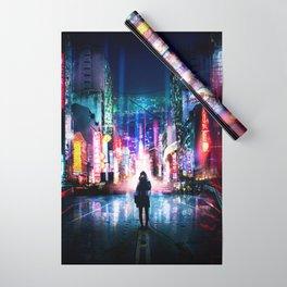 Tokyo Cyberpunk Japan Wrapping Paper