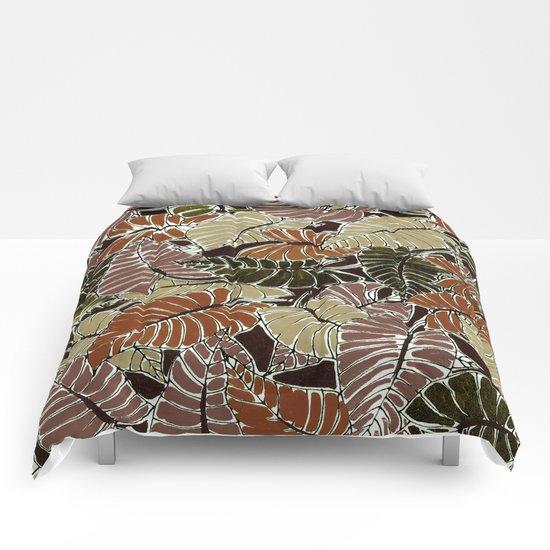 50's bongo leaf Comforters