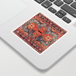 Kashan Poshti Central Persian Rug Print Sticker