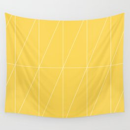 Yellow Triangles by Friztin Wall Tapestry