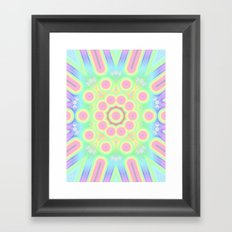 flower candy power Framed Art Print
