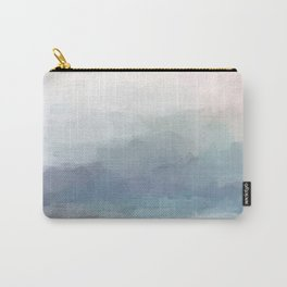 Blush Pink Mint Sky Baby Blue Abstract Ocean Sky Sunrise Wall Art Water Clouds Painting Print Carry-All Pouch