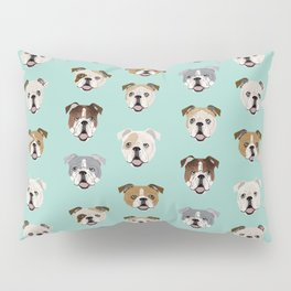 English Bulldog pattern print dog breed pet portrait gifts for dog owner bulldog Pillow Sham