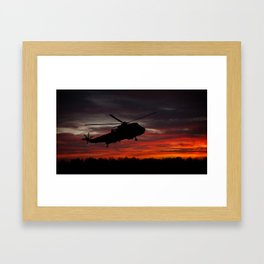 Sunrise Search And Rescue Framed Art Print