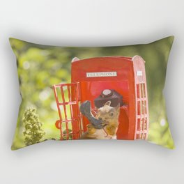 squirrel with a telephone booth Rectangular Pillow