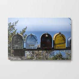 Mailbox Big Sur Mk I Metal Print