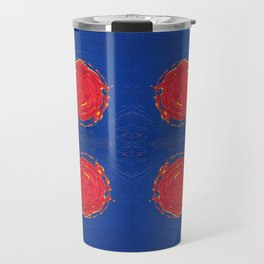 Red dots & yellow square Travel Mug