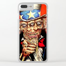 Uncle Zombie Sam Clear iPhone Case