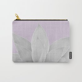 Lavender Fog Agave #1 #tropical #decor #art #society6 Carry-All Pouch
