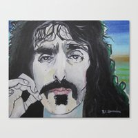 zappa Canvas Prints featuring Frank Zappa by Robert E. Richards