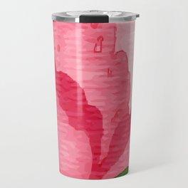 Beauty Rose Flower Travel Mug