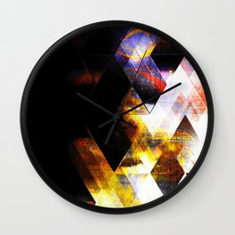 shining steel Wall Clock