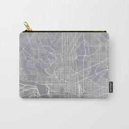 Washington Map, Dc USA - Pewter Carry-All Pouch