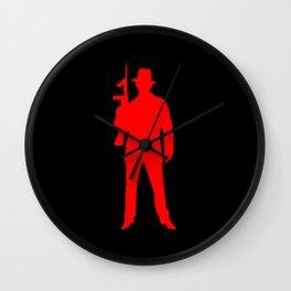 mafia silhouette Wall Clock