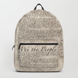 US Constitution - United States Bill of Rights Backpack