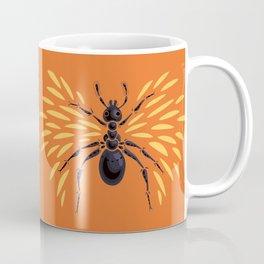Winged Ant Fiery Orange Coffee Mug