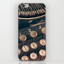 Vintage Typewriter - Macro Photography #Society6 iPhone Skin
