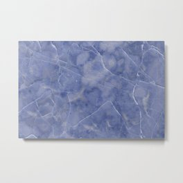 Marble Texture - Icy Blue Marble Metal Print