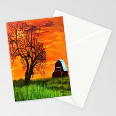 Sunrise on the old farm  Stationery Cards