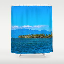 Lahaina Landscape  Shower Curtain