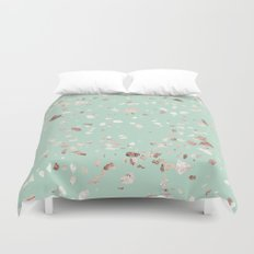 Minty Pink Duvet Cover