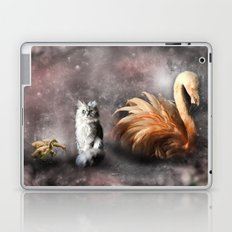 Flamingo, Cat and Geese Laptop & iPad Skin