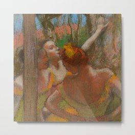 """Edgar Degas """"Dancers"""" 1896 Metal Print"""