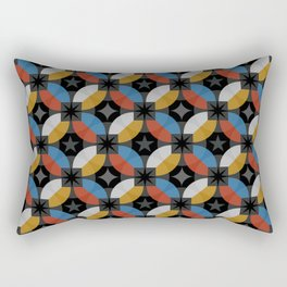 Lovely abstract hand drawn vintage geometric illustration pattern Rectangular Pillow