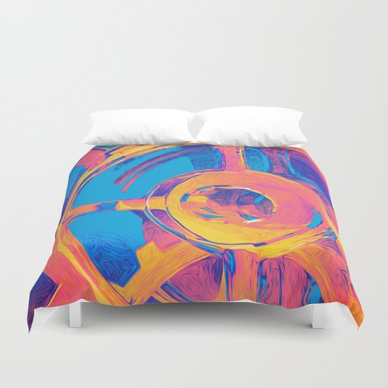 Abstract Macro Gears Duvet Cover