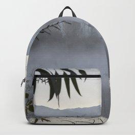 """Dream trees"". Foggy sunrise at the lagoon Backpack"