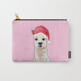 Santa Llama Carry-All Pouch