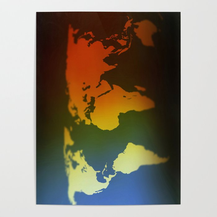 Day and night world map Poster by steveball