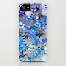 blue and grey iPhone (5, 5s) Slim Case