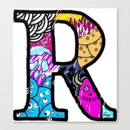 initial R Canvas Print