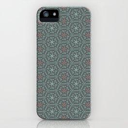Going Round and Round - Pink/Aqua/Grey iPhone Case
