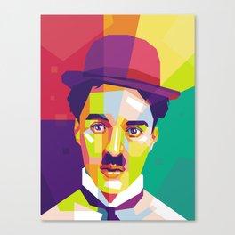 Charlie Chaplin Pop Art WPAP Canvas Print