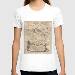 Vintage Battle of Yorktown Virginia Map (1781) T-shirt