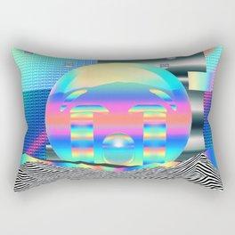 Sad Emoji Poster Iridescent Rectangular Pillow