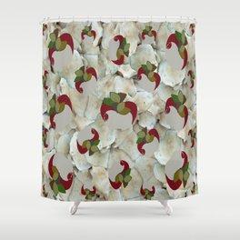 Double Apples White Mushrooms Shower Curtain
