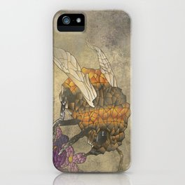 Abstract Bumble Bee iPhone Case