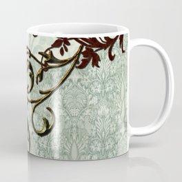 Soft green vintage  art Coffee Mug